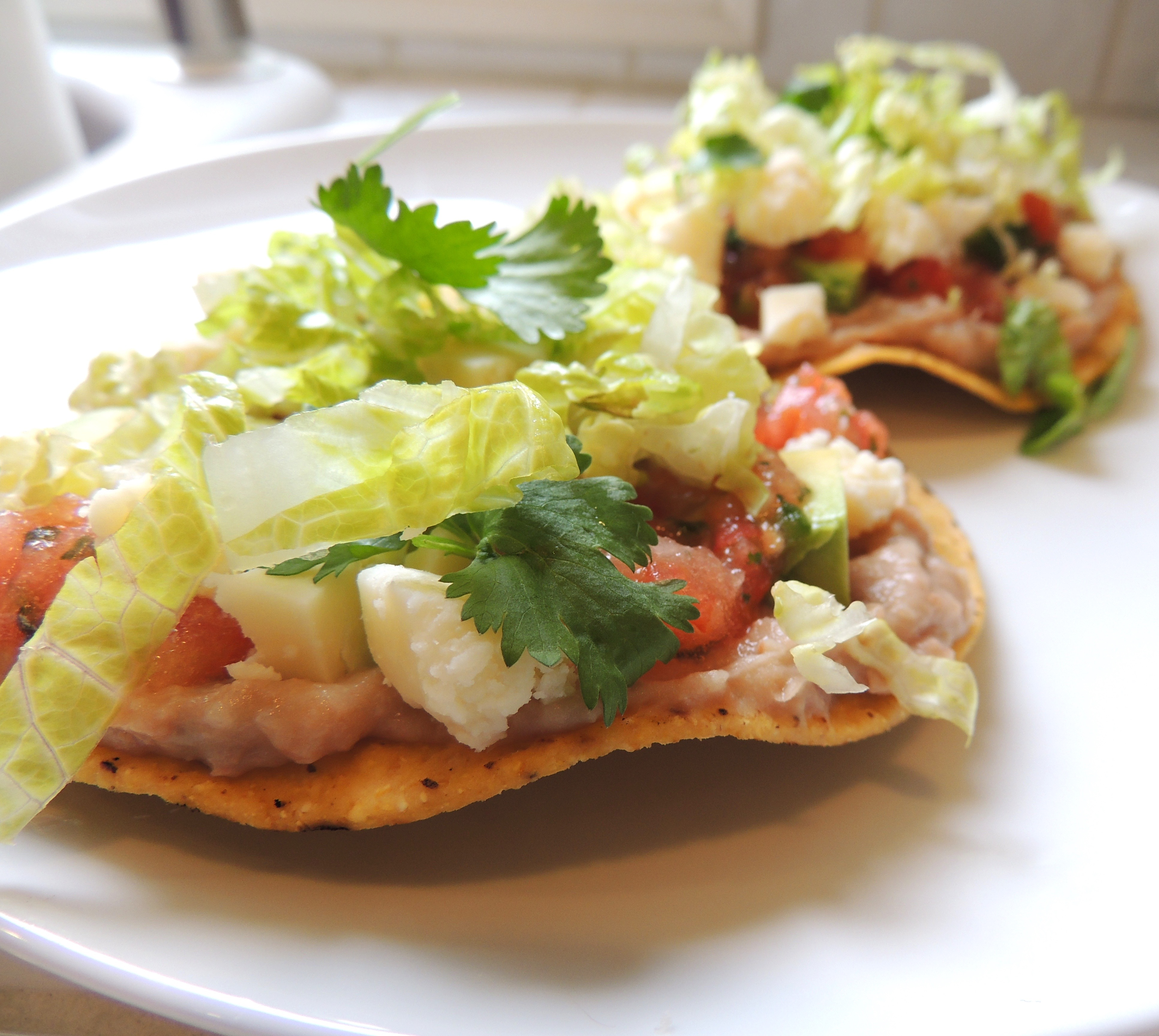 Living Healthy In Seattle: Tostadas With Pinto Bean Spread & Spicy Salsa
