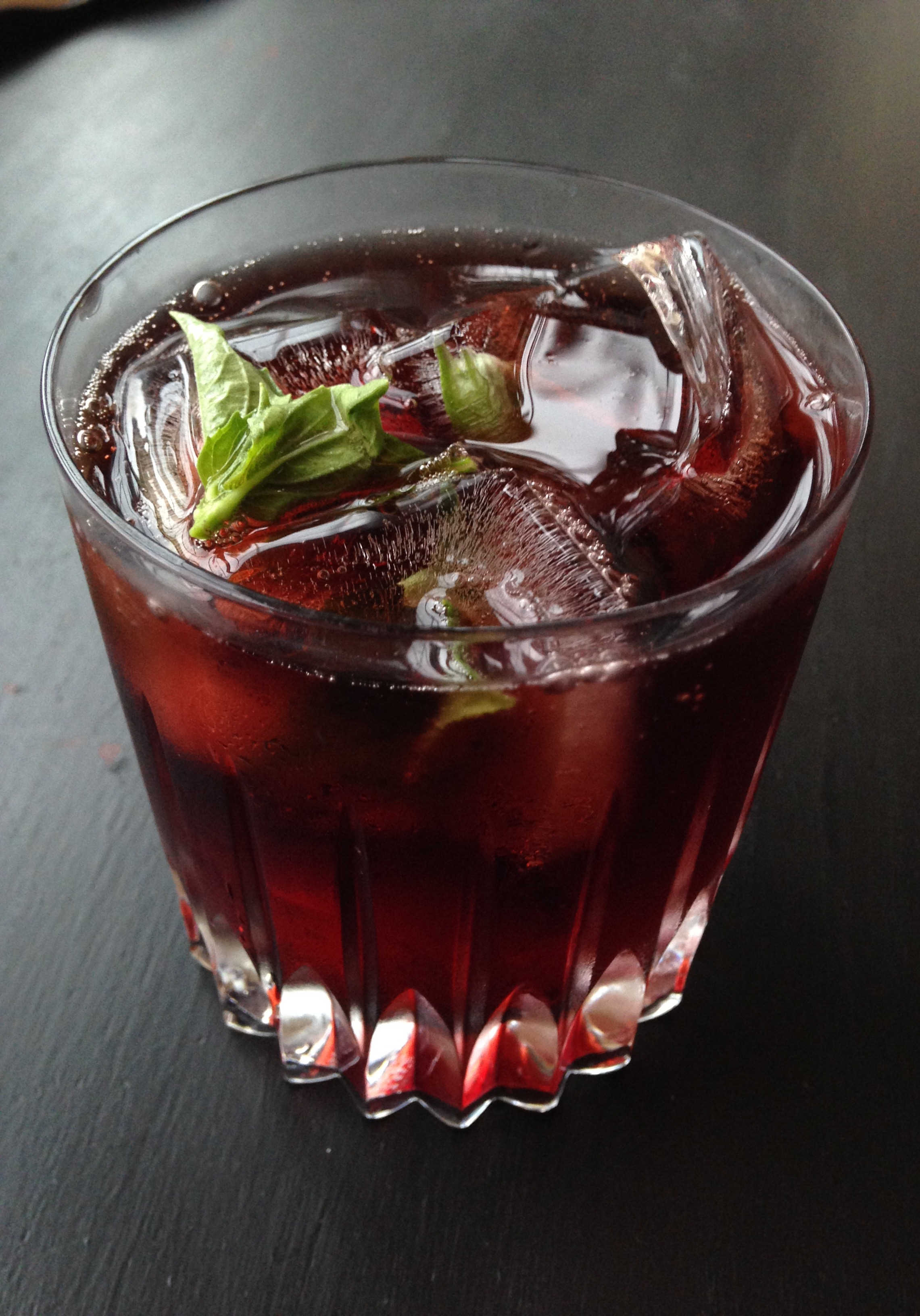 Fizzy Cherry Basil Vodka | Living Healthy in Seattle