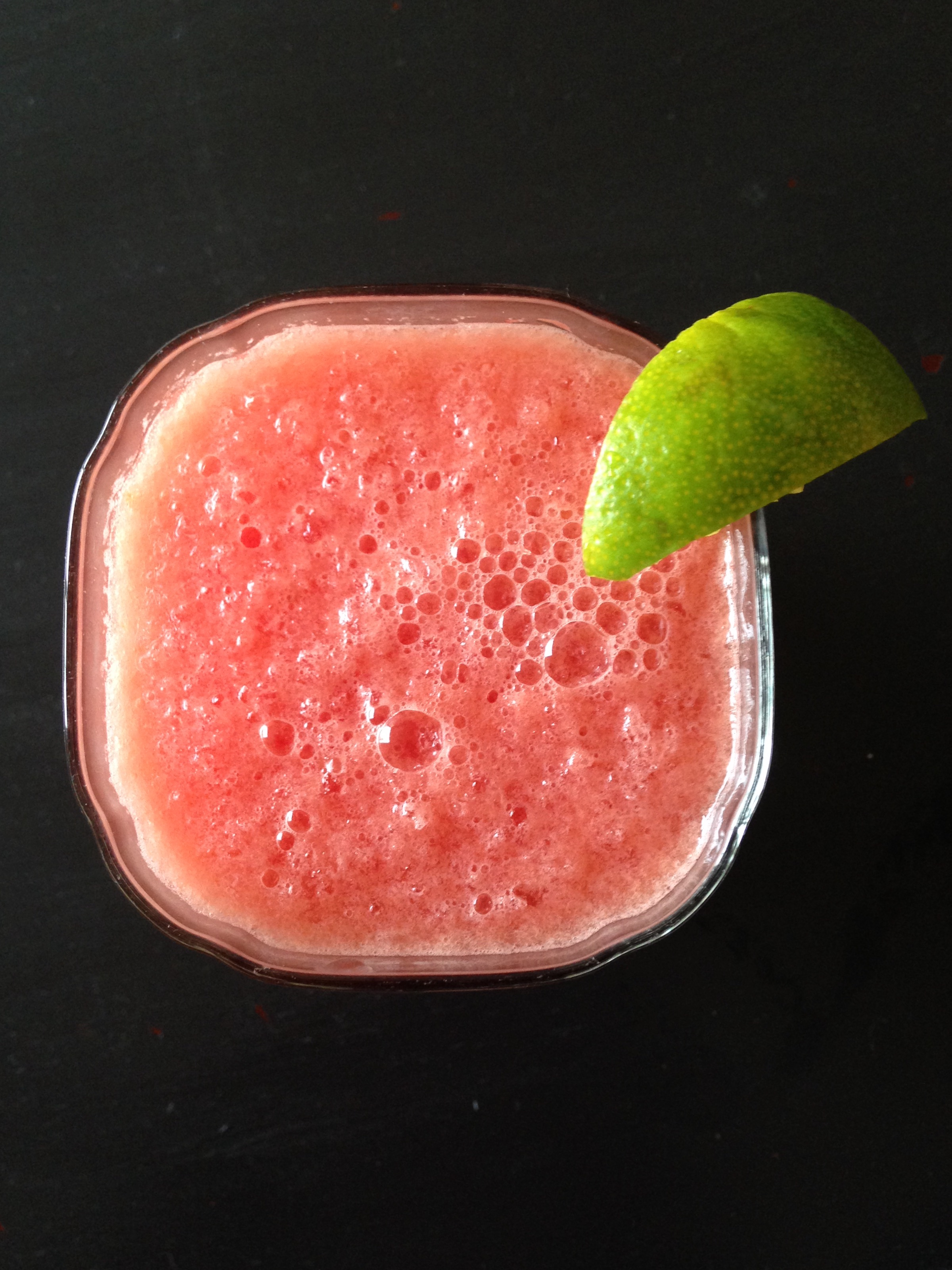 Watermelon Vodka Slush with a Hint of Lime | Living Healthy in Seattle