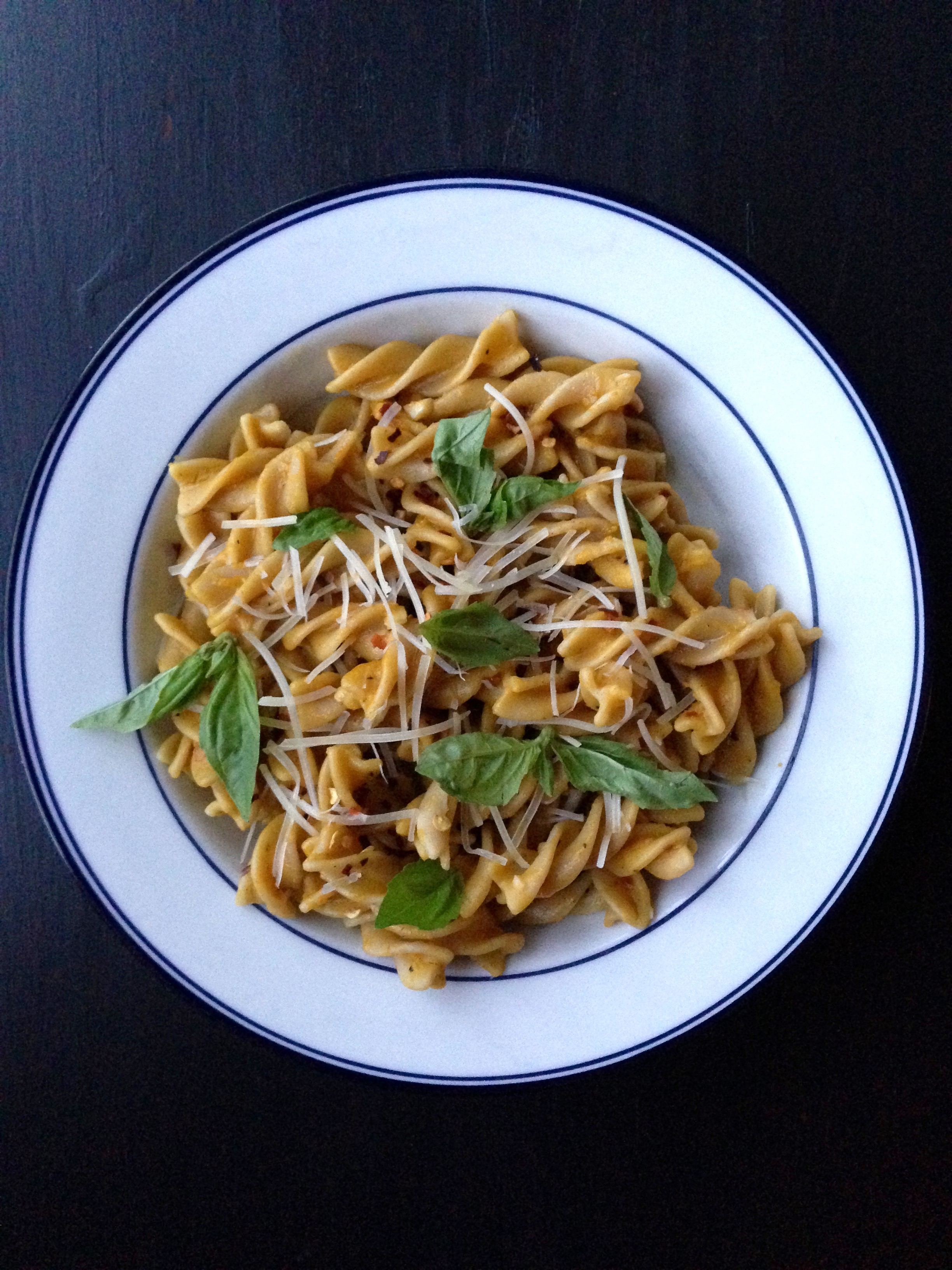 Pasta with Spicy & Creamy Pumpkin Sauce | Living Healthy in Seattle