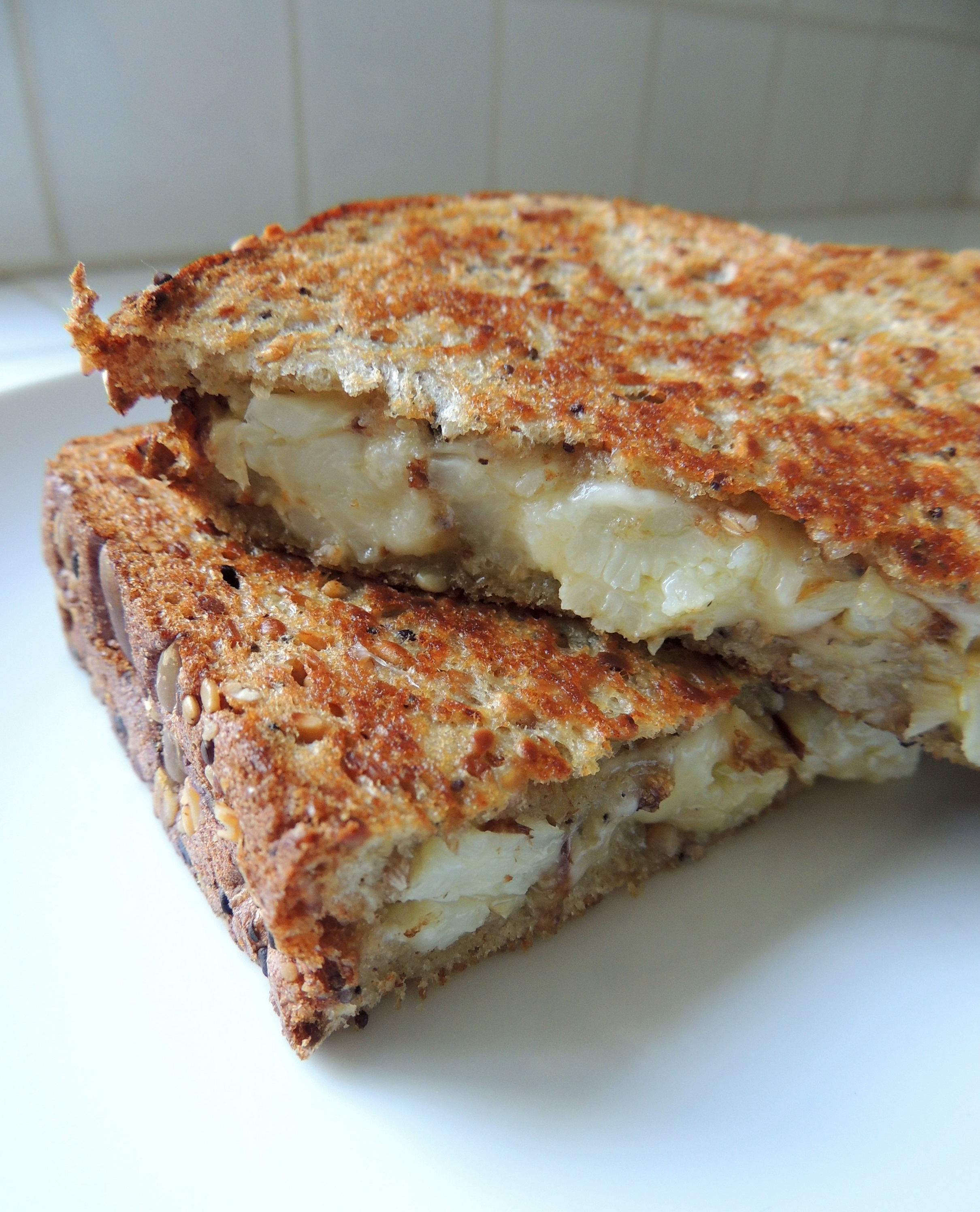 Cauliflower & Roasted Garlic Grilled Cheese | Living Healthy in ...