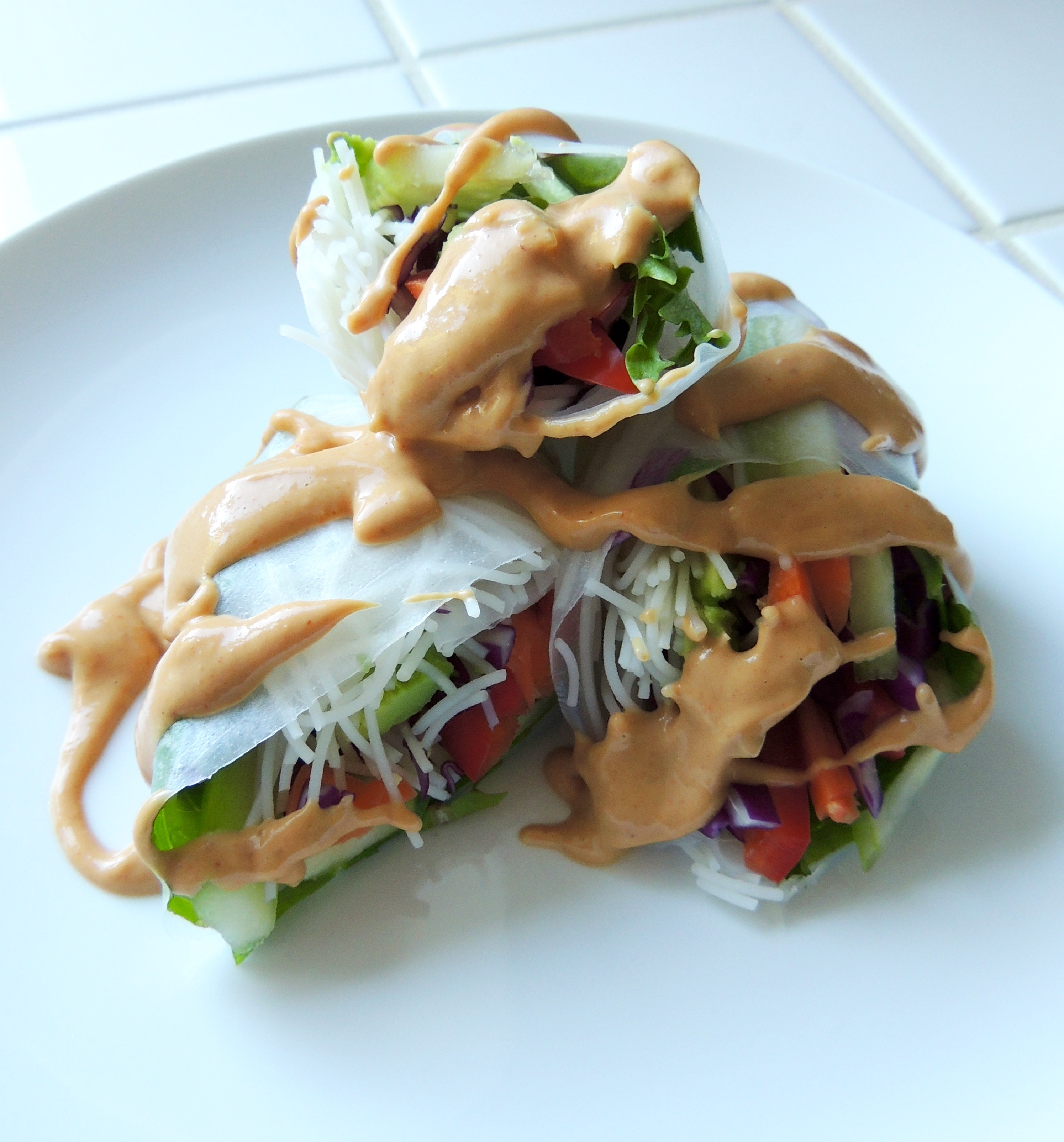 Veggie Fresh Rolls with Spicy Peanut Sauce | Living Healthy in Seattle