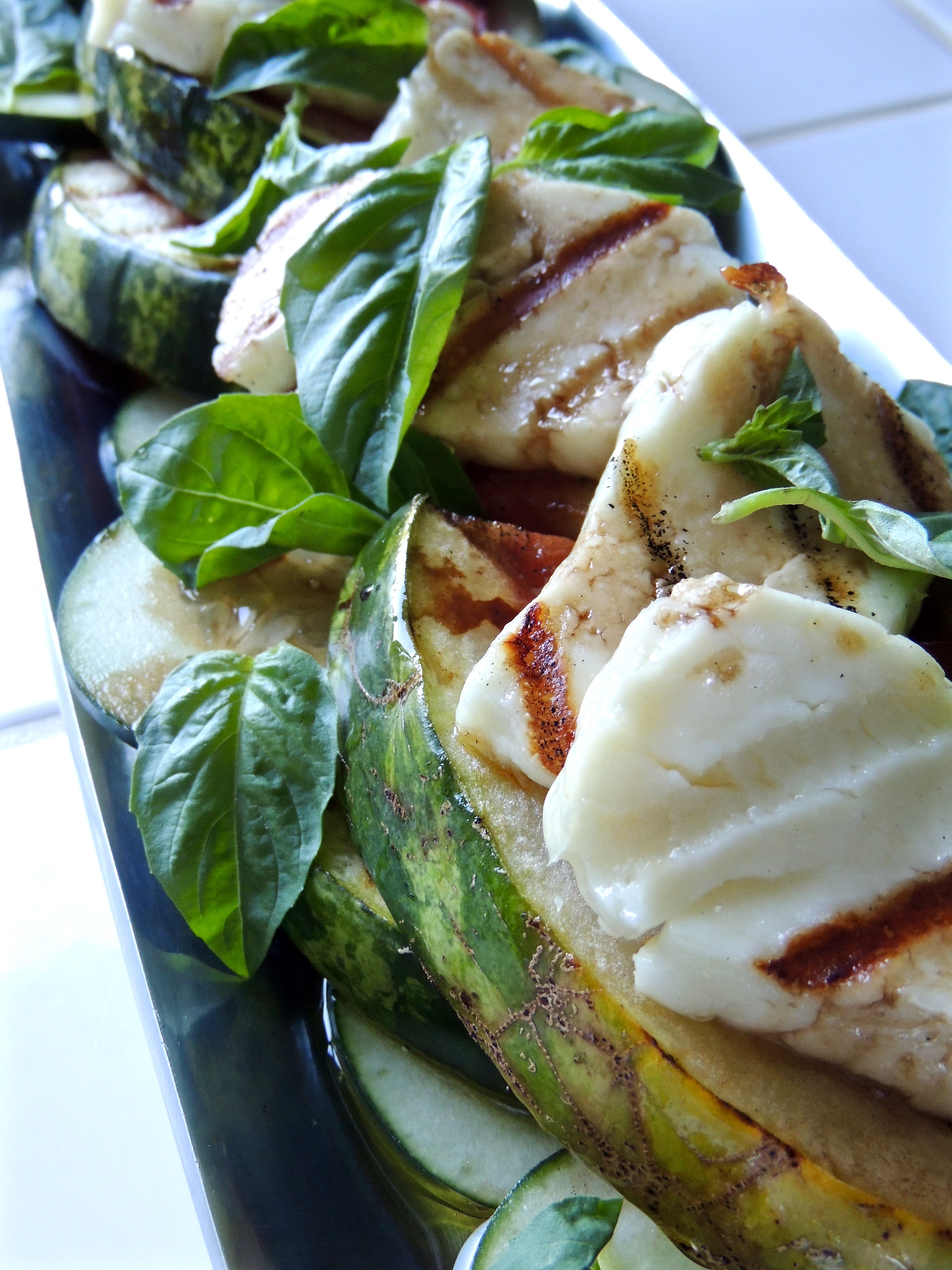 Grilled Halloumi & Watermelon with Basil | Living Healthy in Seattle