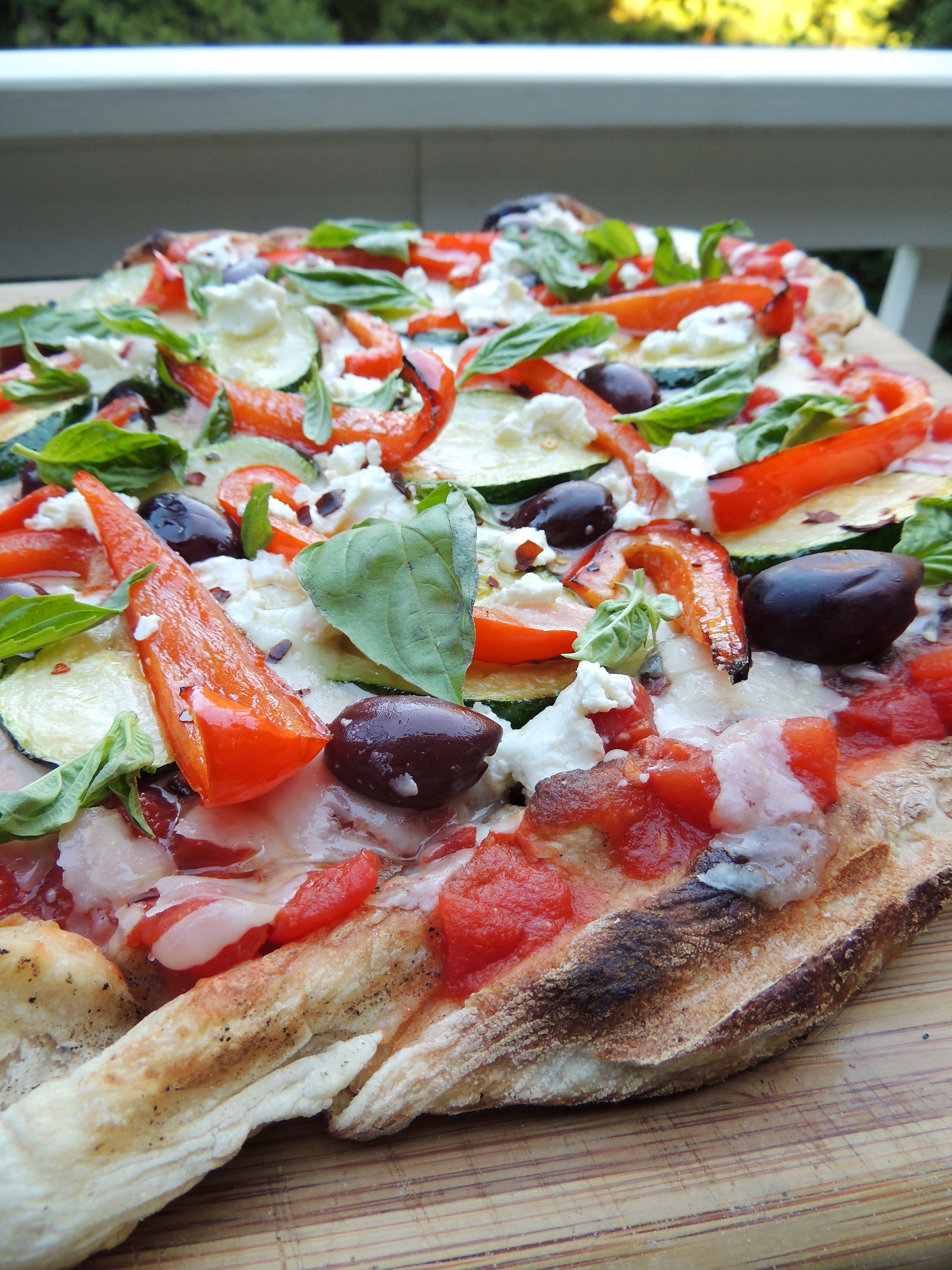 Grilled Veggie Pizza | Living Healthy in Seattle