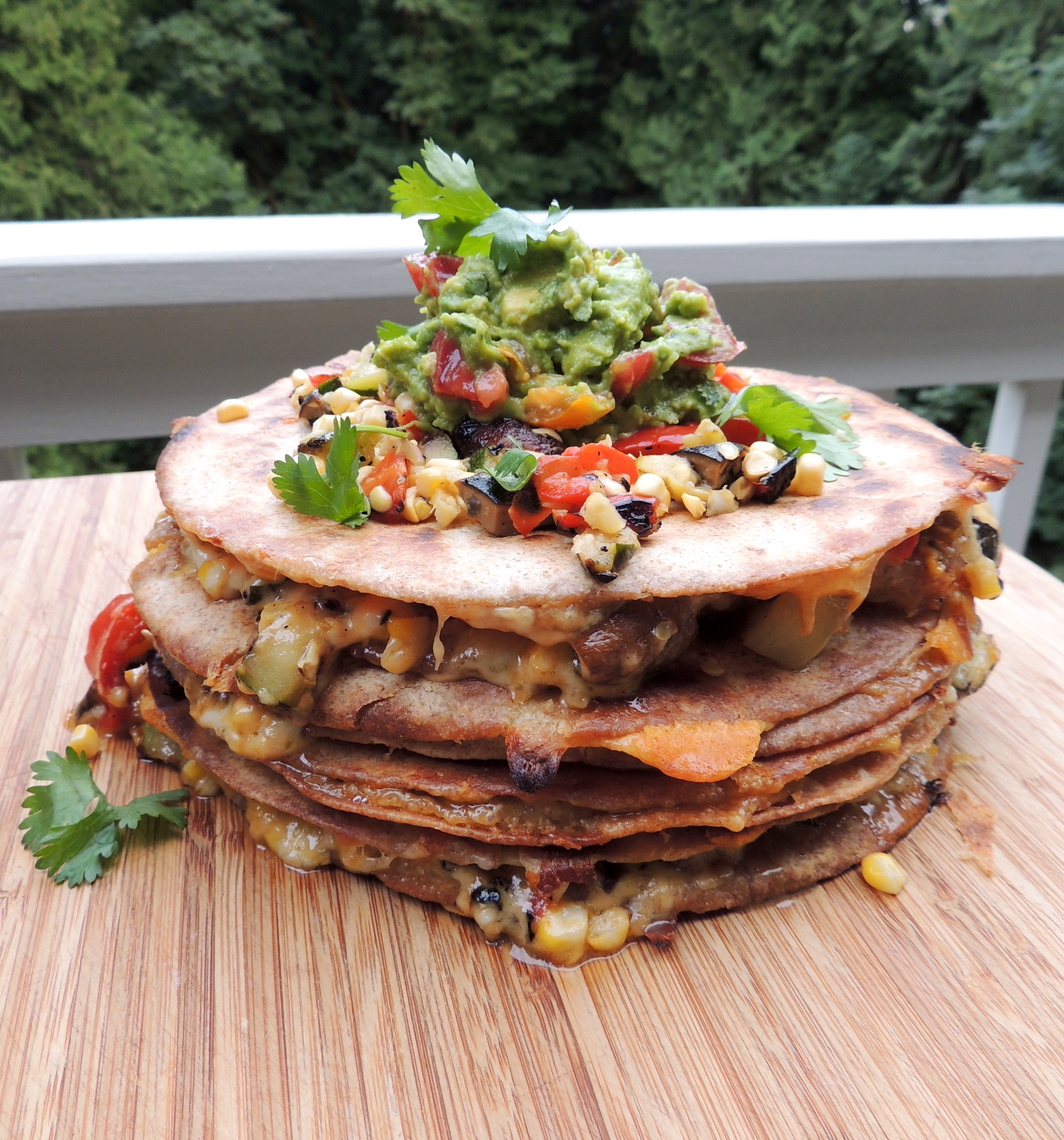 Grilled Veggie Quesadillas with Vegan Option | Living Healthy in Seattle