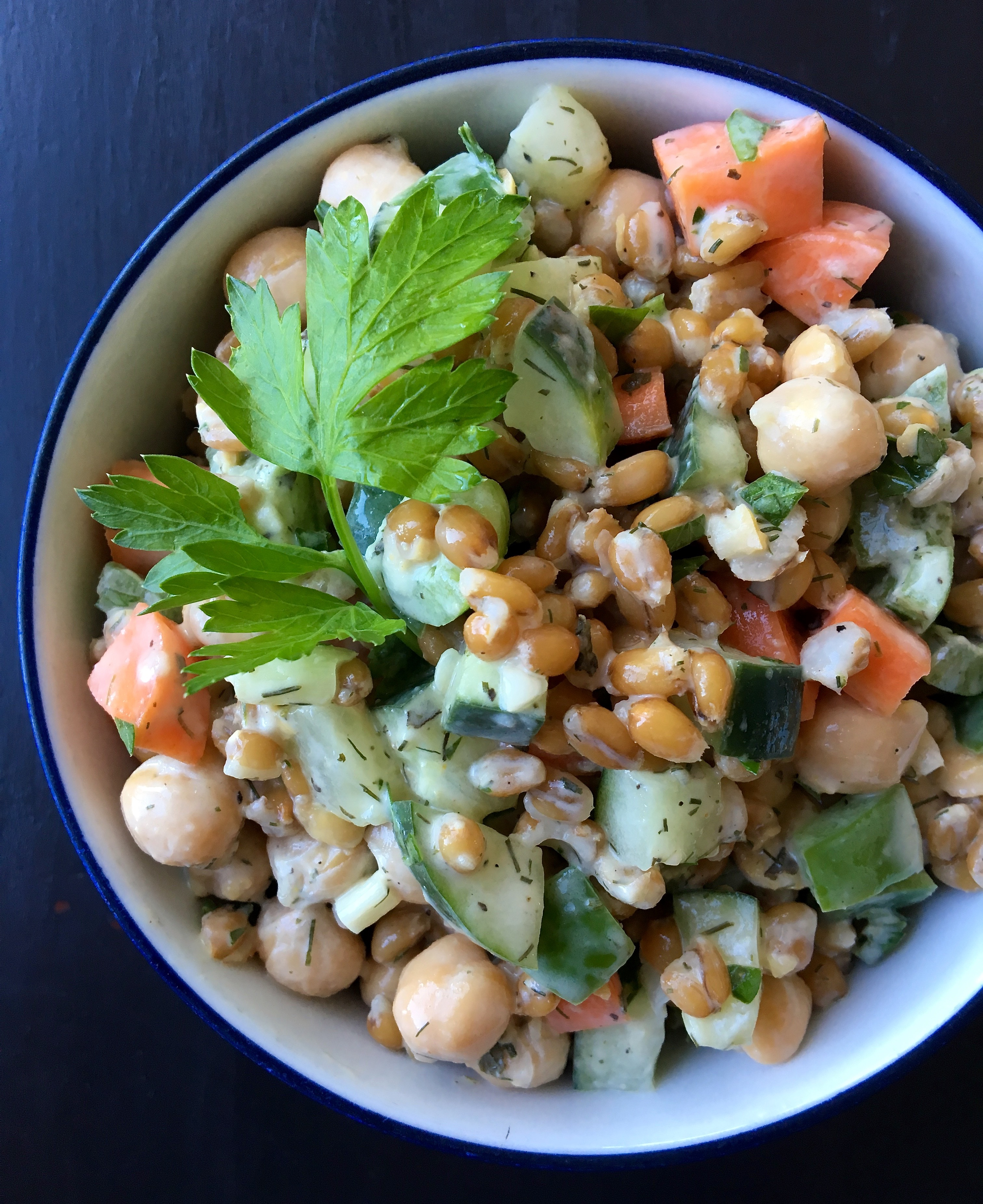 Chickpea Spelt Salad | Living Healthy in Seattle