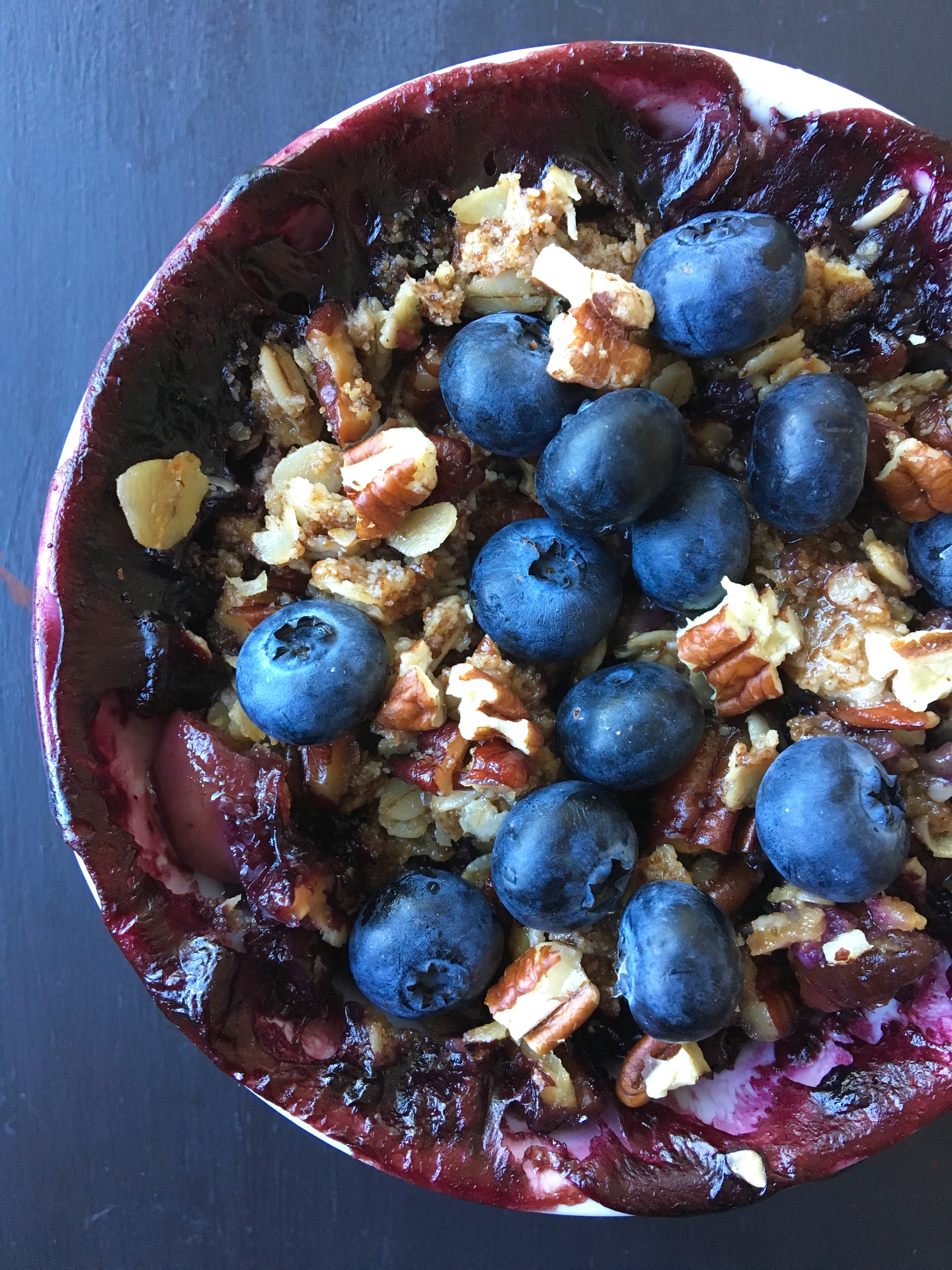 Healthier Blueberry & Nectarine Crisp | Living Healthy in Seattle