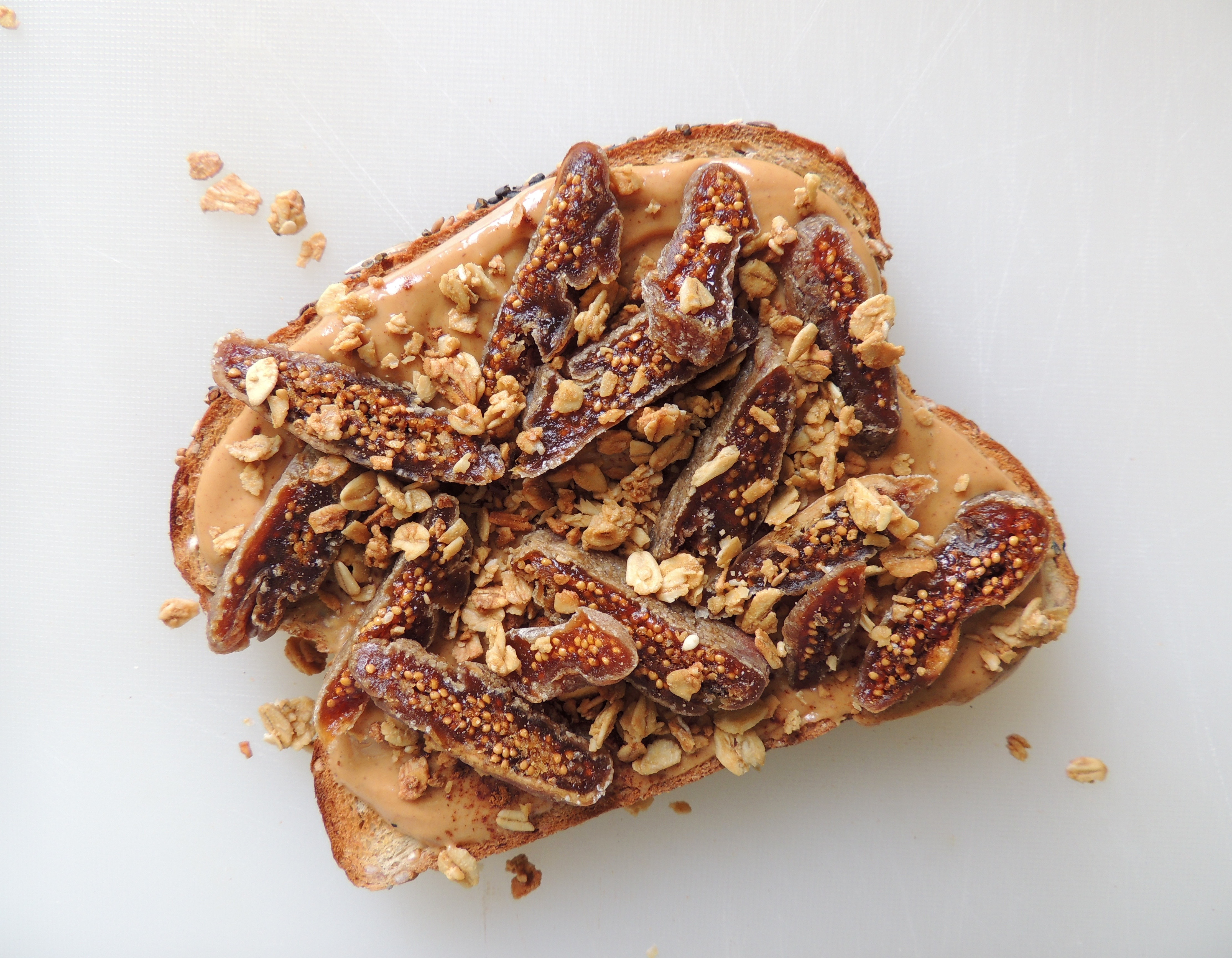 Peanut Butter & Fig Toast with Granola | Living Healthy in Seattle