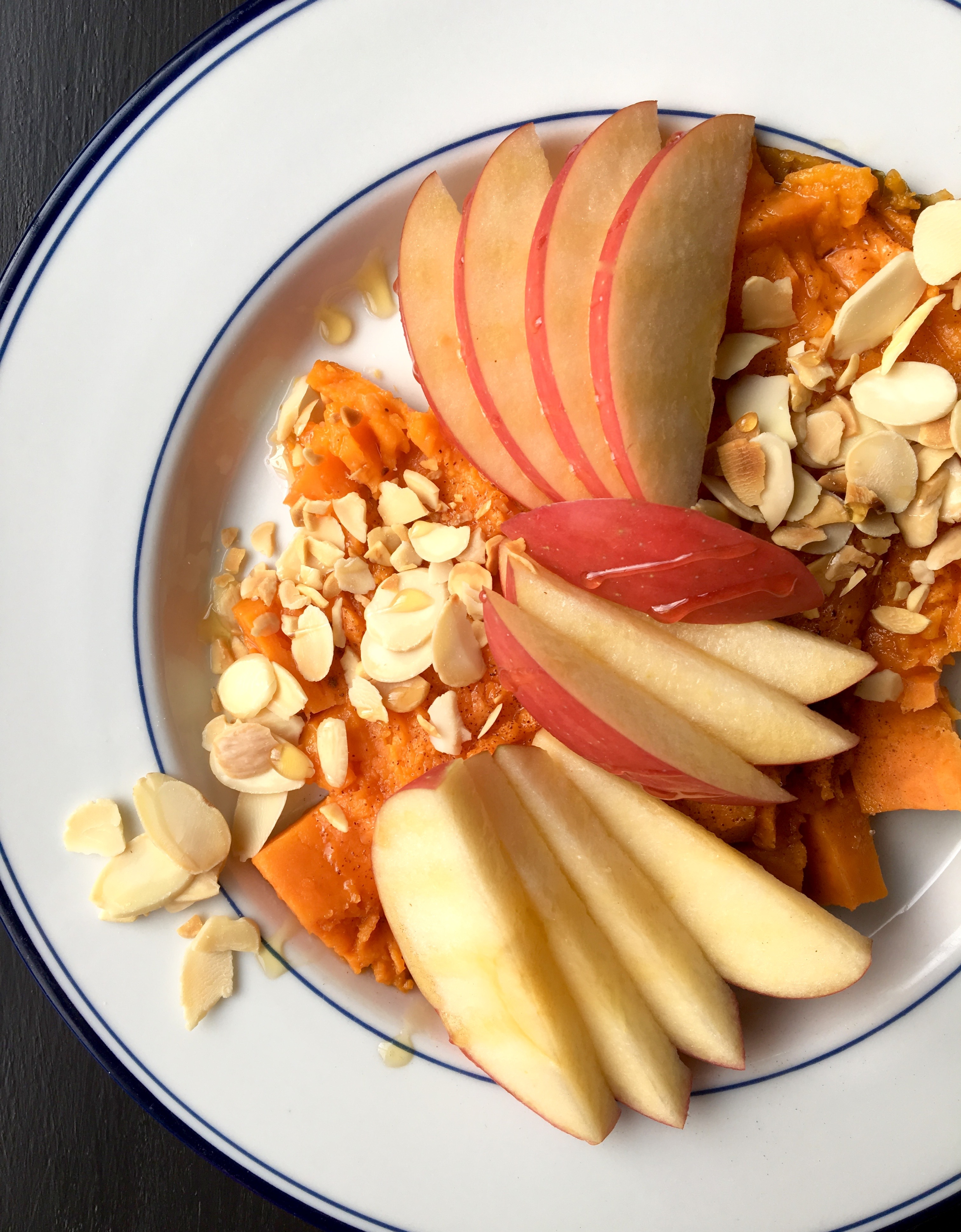 Breakfast Sweet Potato with Apple & Almonds | Living Healthy in Seattle