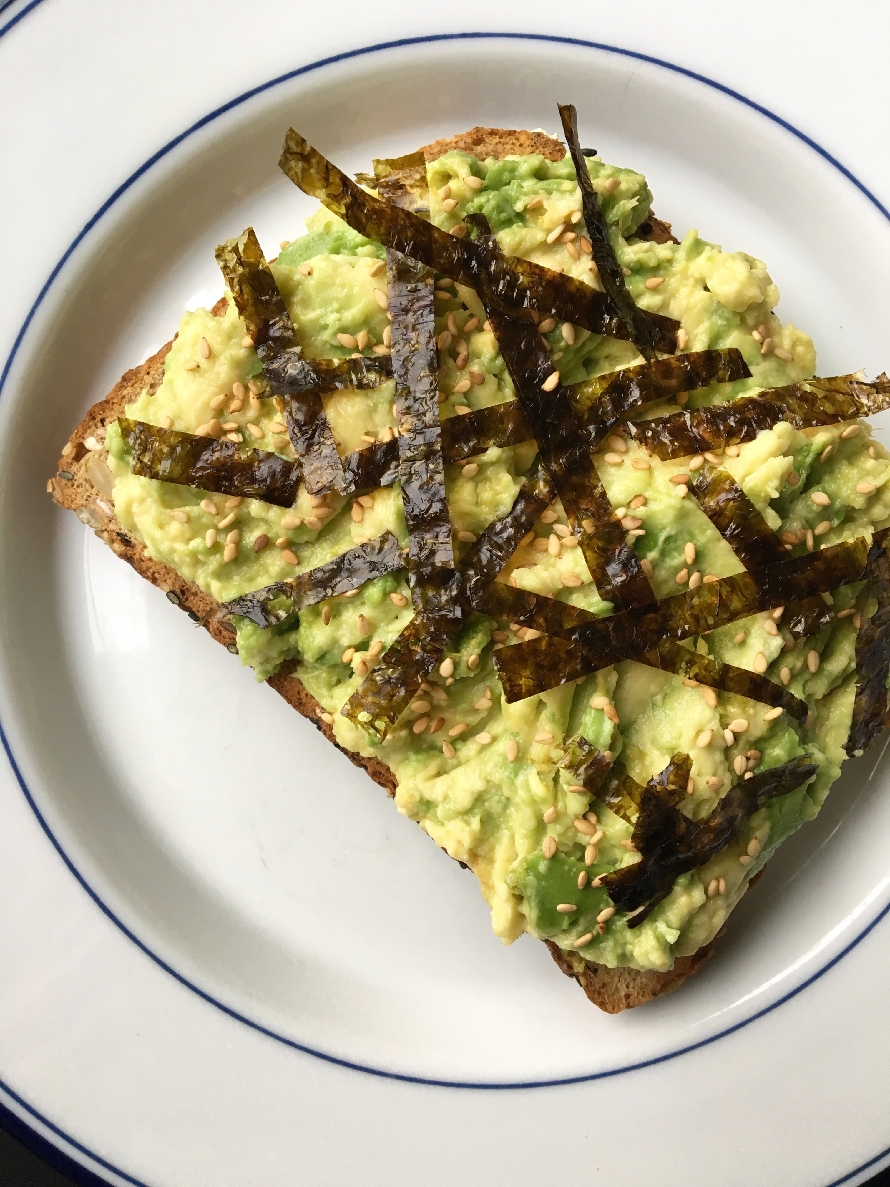 Savory Avocado Toast with Nori & Toasted Sesame Seeds | Living Healthy in Seattle