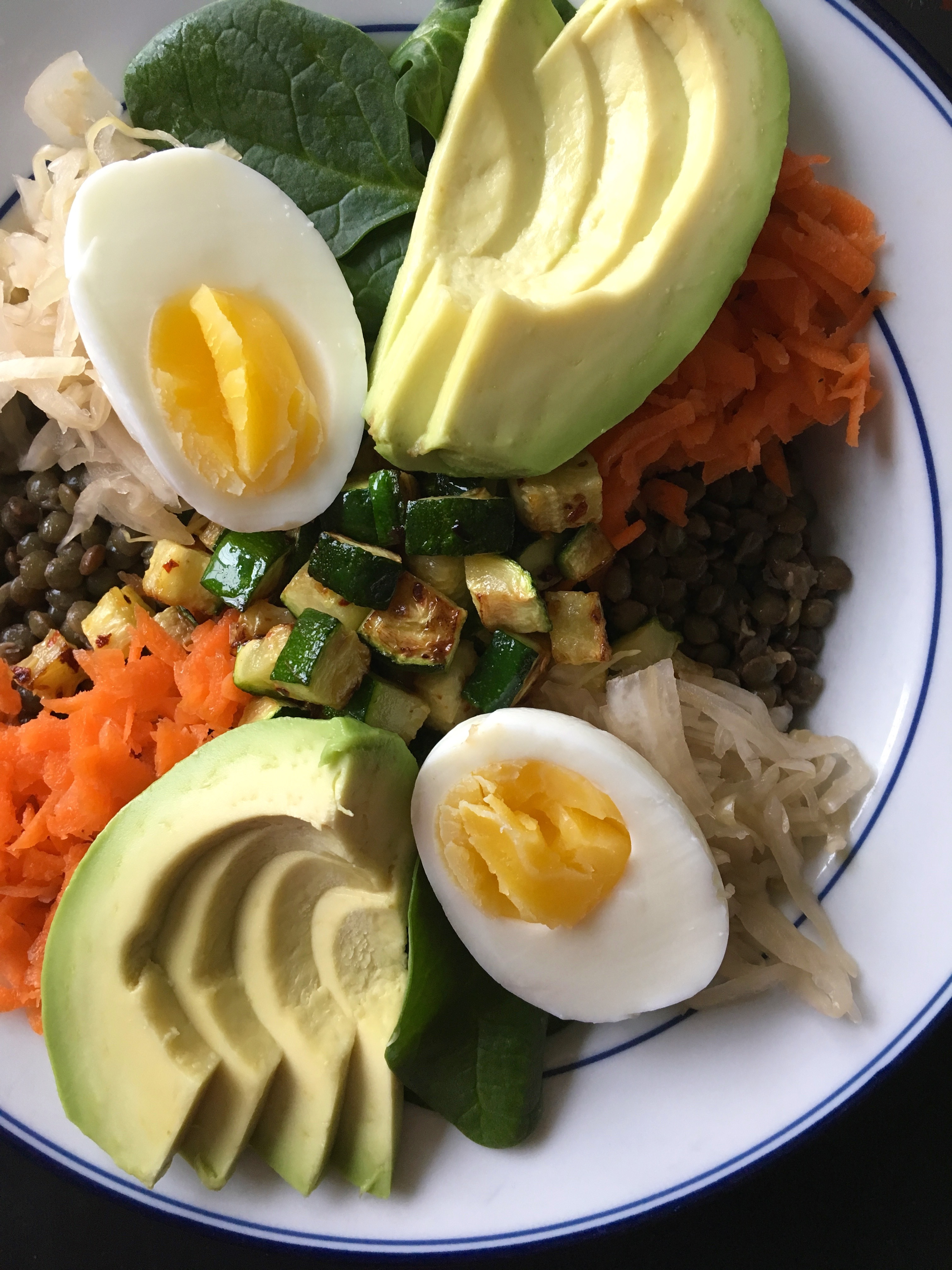 Lentil Veggie Bowl | Living Healthy in Seattle