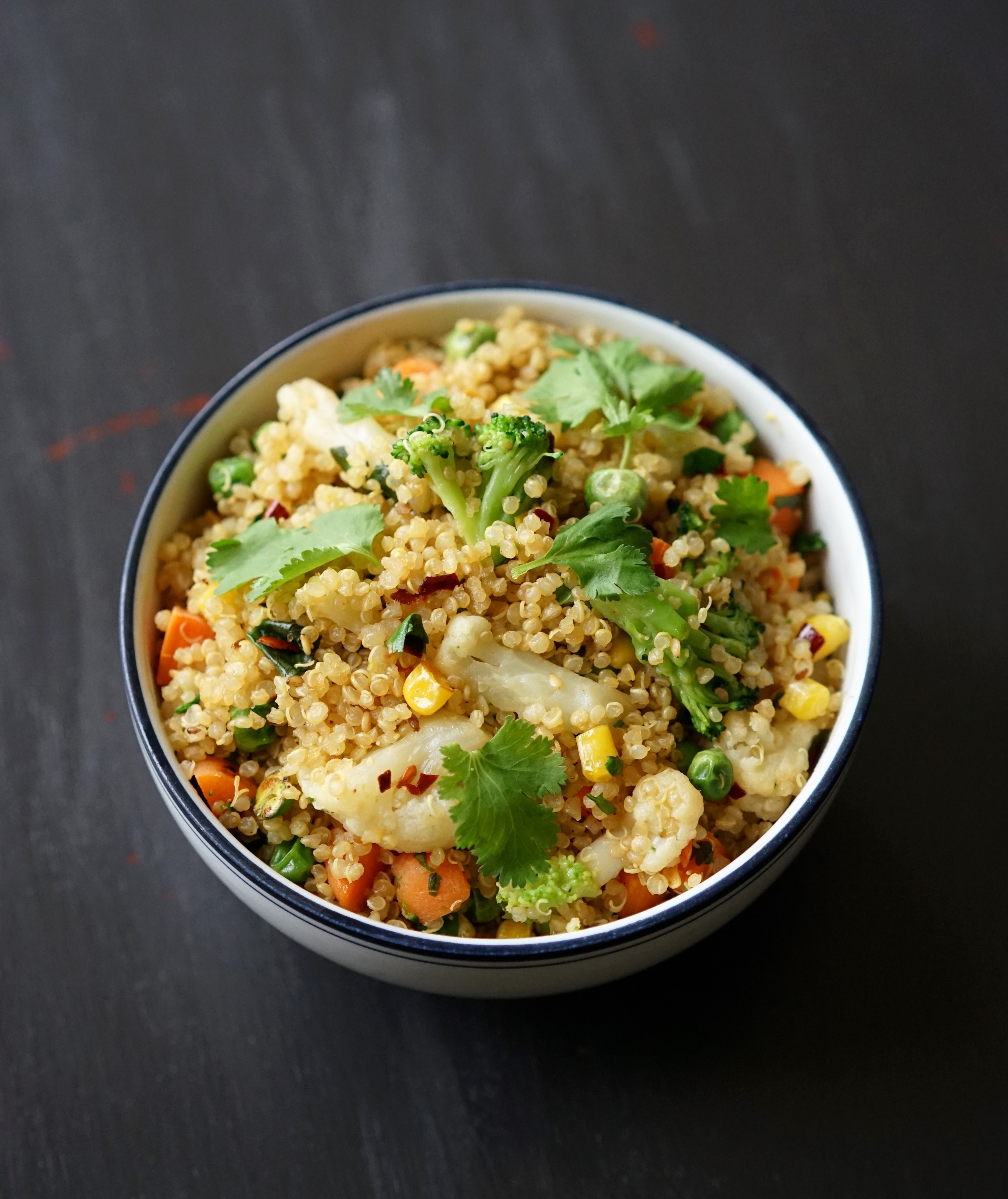 Vegan Quinoa Fried Rice with Freezer Veggies | Living Healthy in Seattle