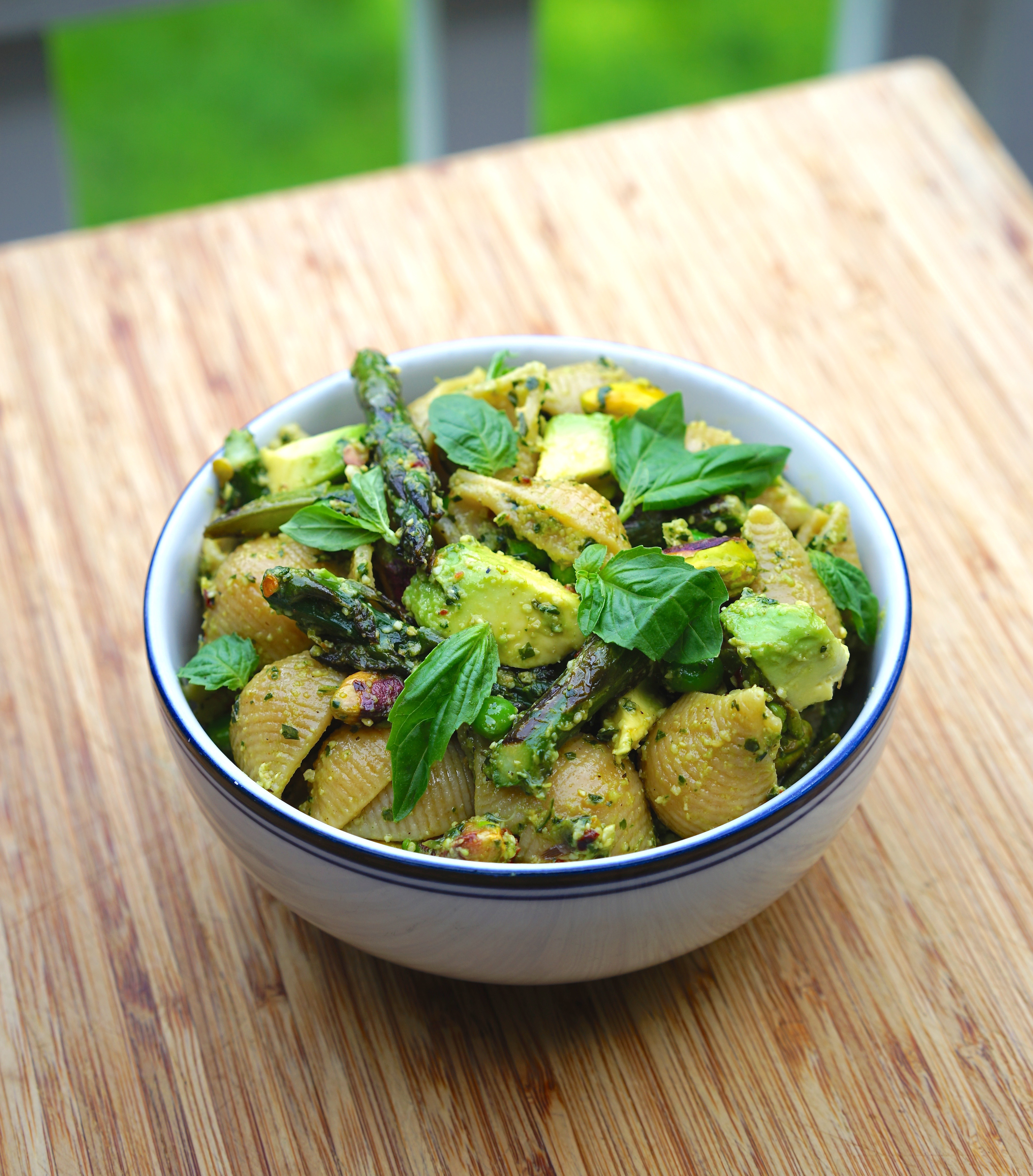 Vegan Veggie Pesto Pasta with Pistachios | Living Healthy in Seattle