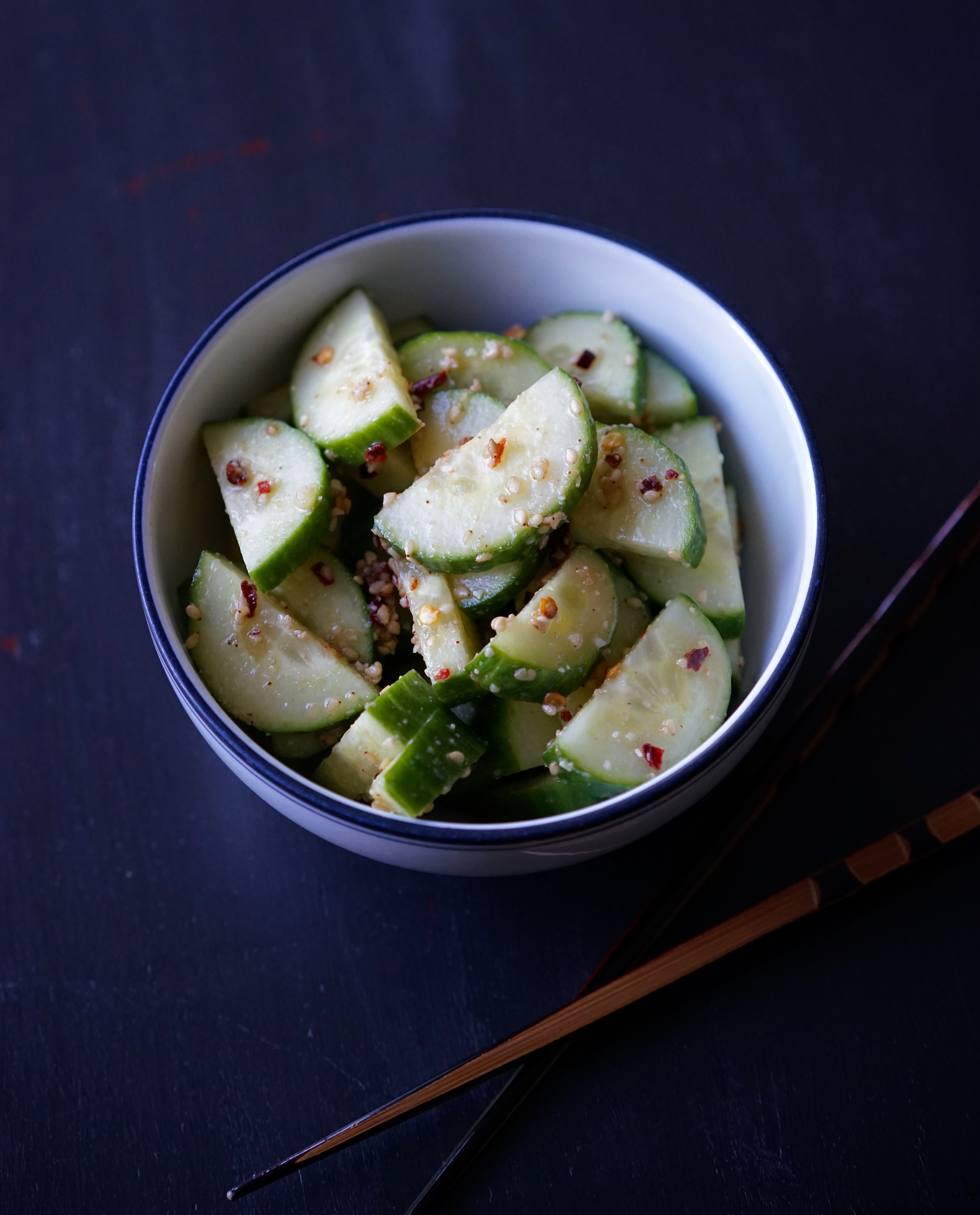 Quick Sesame Cucumbers | Living Healthy in Seattle