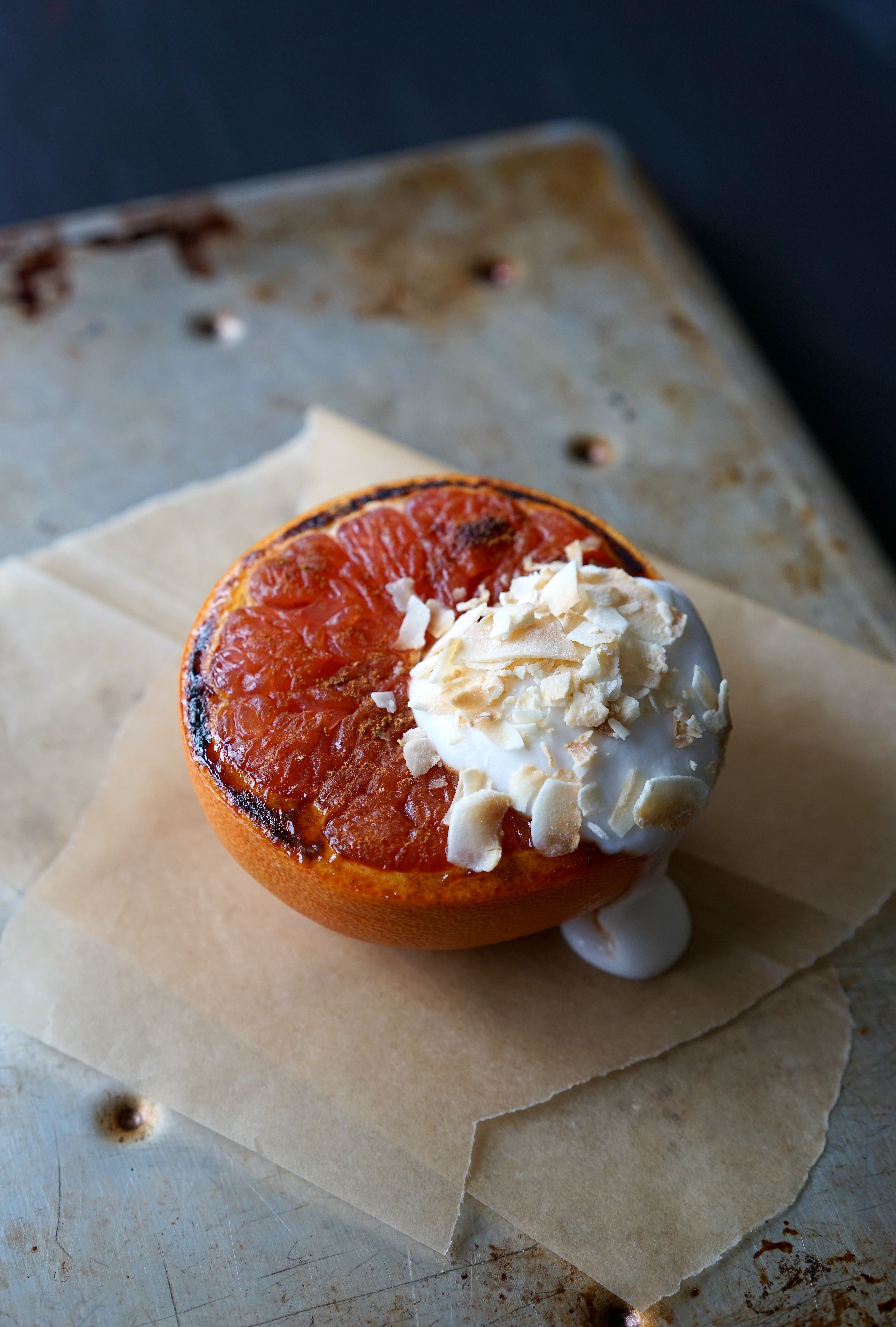 Caramelized Spiced Grapefruit with Coconut | Living Healthy in Seattle